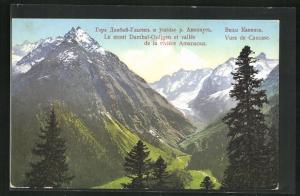 AK Kasbek, Le mont Dambai-Ouljgen et vallee de la riviere Amanaous