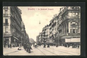 AK Brüssel / Bruxelles, Le Boulevard Anspach