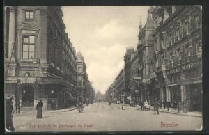 AK Brüssel / Bruxelles, Vue generale du Boulevard du Nord