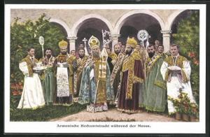 AK Armenische Hochamtstracht wärend der Messe, Orthodoxe Christen