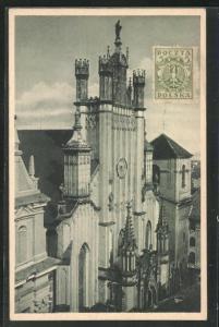 AK Warschau-Warszawa, Motiv der Johanneskathedrale