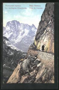AK Les montagnes Klouchorsky, Bergpass im Kaukasus