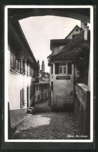 AK Zürich, Die Schipfe, Ortspartie