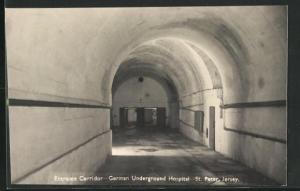 AK St. Peter / Jersey, German Underground Hospital, Entrance Corridor