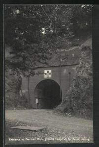 AK Jersey, Entrance to German Underground Hospital, St. Peter