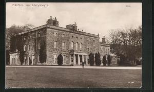 AK Aberystwyth, Mansion Nanteos, Auffahrt