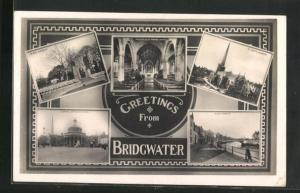 AK Bridgwater, Blake Gardens, St. Marys Church, Cornhill and Blake Statue