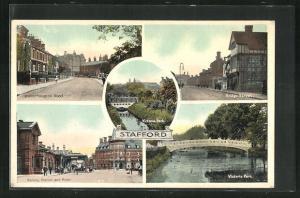 AK Stafford, Victoria Park, Bridge Street, Railway Station and Hotel