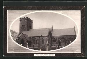 Passepartout-AK West Kirby, Parish Church, Kirche