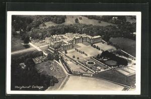 AK Stonyhurst, College mit Parkanlagen vom Flugzeug aus