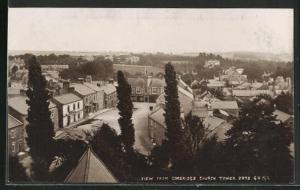 AK Corbridge, Teilansicht von Church Tower auf Platz, Häuser und Umgebung