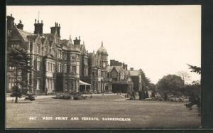 AK Sandringham, House, West Front and Terrace
