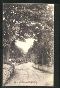 AK Madeley, Church Lane, Strassenpartie