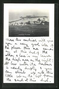AK Lyme Regis, The Cobb, Blick auf den Hafen