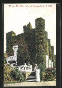 AK Isle of Man, Mr and Mrs Hall Caine at Greeba Castle