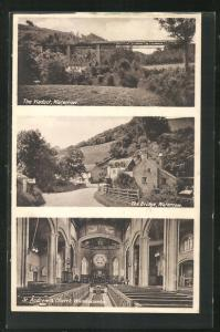 AK Waterrow, the Viaduct, the Bridge, St. Andrews Church at Wiveliscombe