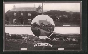 AK The Green, Thwaites Church, Thwaites Parsonage, Hill-Millom, Hall Thwaites