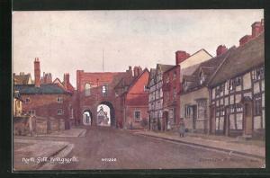 Künstler-AK Bridgnorth, View of the North Gate