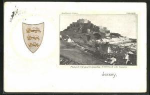 Präge-AK Jersey, Mount Orgueil Castle, Wappen