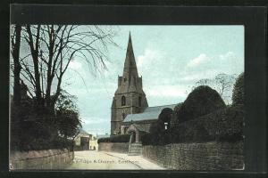 AK Eastham, Strassenpartie an der Kirche