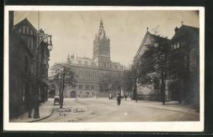 AK Chester, Town Hall, Strassenpartie am Rathaus