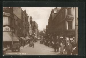 AK Hull, Whitefriargate, Strassenpartie im Zentrum