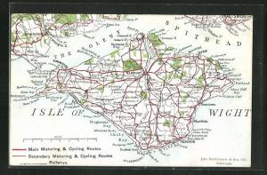 AK Isle of Wight, Map with Solent and Spithead