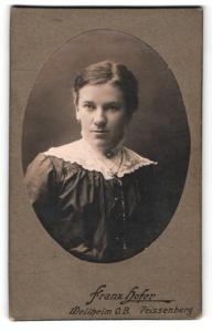 Fotografie Franz Hofer, Weilheim, Portrait bürgerliche junge Frau