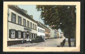AK Manderscheid / Eifel, Strassenpartie am Gasthof Thull