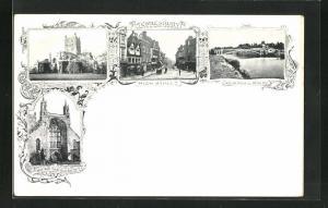 AK Tewkesbury, High Street, Abbey, Severin Bridge and Mythe Hill