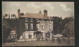 AK Longhope, Manor, Blick auf Efeufassade mit Garten
