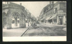 AK Sherborne, Cheap Street, Häuserfassaden