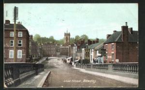 AK Bewdley, Load Street, Blick auf Kirche und Häuser