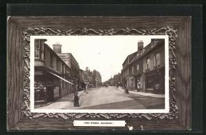 Passepartout-AK Daventry, High Street, Häuserfassaden
