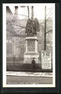 AK Worcester, Boer War Memorial