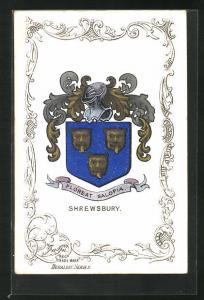 AK Shrewsbury, Wappen der Stadt, Floreat Salopia