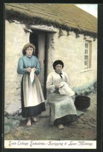 AK Irland, Irish Cottage Industries - Sprigging & Lace Making