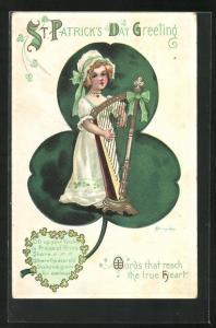 Präge-AK Irland, St. Patrick`s Day Greeting