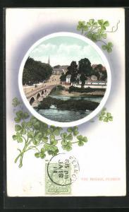 AK Fermoy, The Bridge, Teilansicht mit Brücke