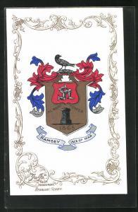 AK Ramsey / Isle of Man, Wappen der Ortschaft