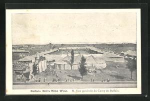 AK Buffalo Bill`s Wild West, Vue generale du Camp de Buffalo, Völkerschau