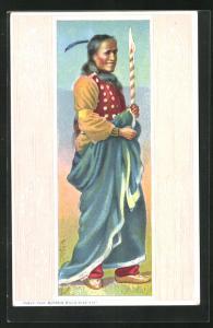 AK Indianer hüllt sich in eine Decke, Buffalo Bill`s Wild West