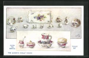 AK The Queen`s Dolls House, China Tea Service, Toilet Set
