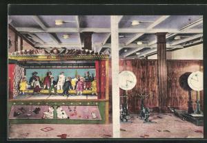 AK Passagierschiff Ile de France, Kinderspielzimmer mit Puppentheater