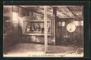 AK Passagierschiff Ile de France, Le Guignol / Puppentheater