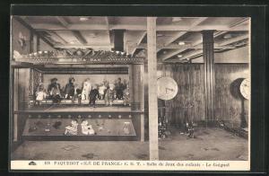 AK Passagierschiff Ile de France, Salle de Jeux des enfants - Le Guignol / Puppentheater