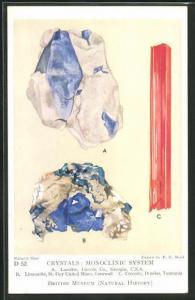 AK Crystals: Monoclinic System, Lazulite, Liroconite, Crocoite, Edelstein