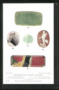 AK Ornamental Stones: Quartz, Green Aventurine, Mocha-stone, Chrysopase, Sardonxy, Edelstein