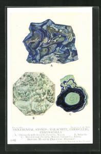 AK Ornamental Stones: Malachite, Chessylite, Chrysocolla, Edelstein