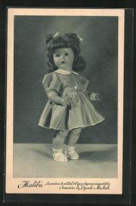 AK Madrid, Malibu, Creacion de Lopadi, Puppe mit Schleifchen im hübschen Kleid
